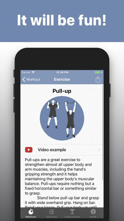 Pull Ups training exercises screenshot-4