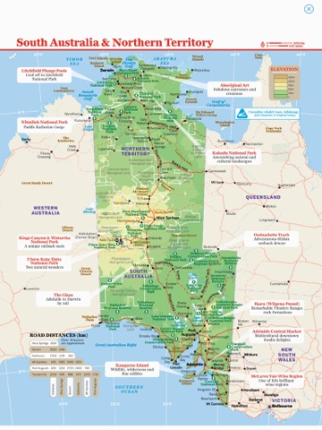 Map Of South Australia And Northern Territory.South Australia Northern Territory Travel Guide By Lonely Planet On Apple Books