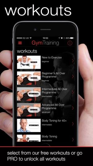 GymTraining Personal Trainer Screenshot