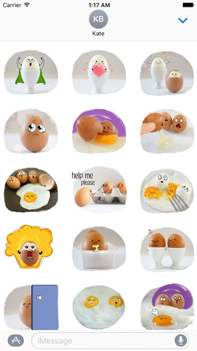 Story of Cute Eggs Sticker screenshot 2