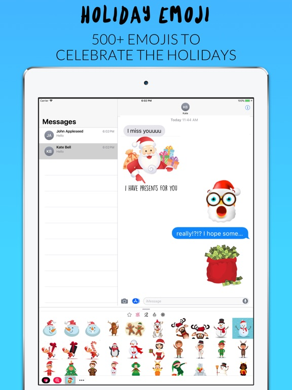 screenshot 1 for holiday emoji stickers