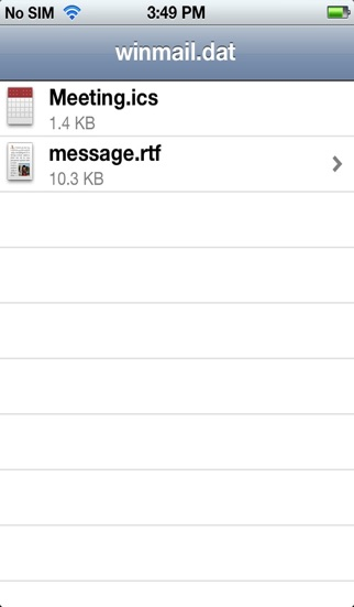 Screenshot for Winmail File Viewer in Colombia App Store