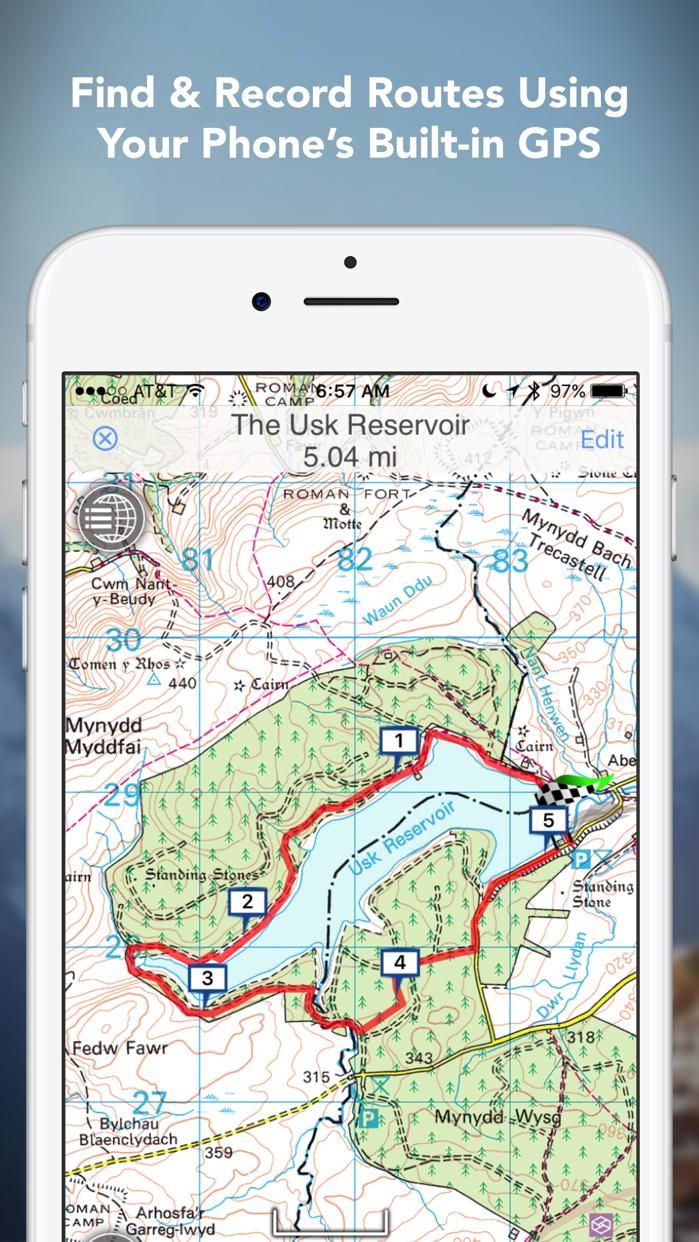 Outdoors GB - Offline OS Maps Screenshot