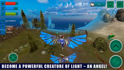 Flying Angel Fighting Sim 3D screenshot one