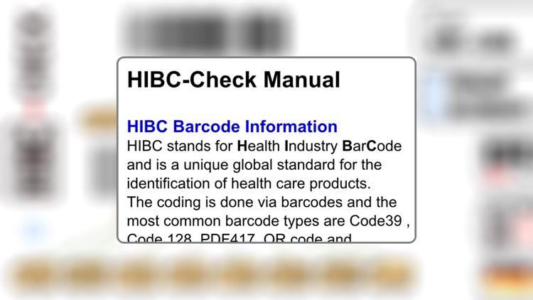 HIBC Check screenshot-3