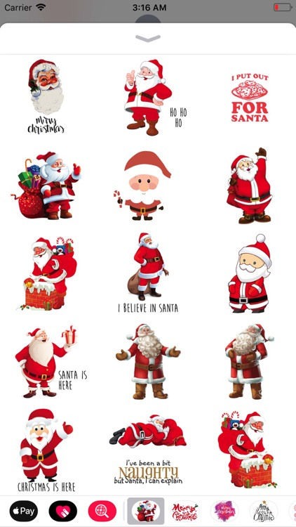 Christmas Santa Sticker Pack screenshot-3