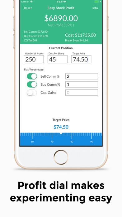 Easy Stock Profit Calculator | App Price Drops