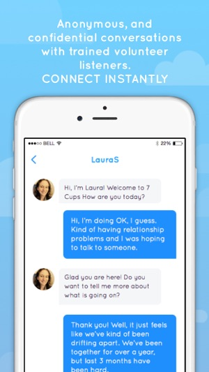 7 Cups Anxiety Stress Chat On The App Store