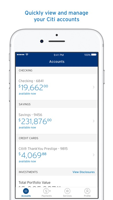 Citi Mobile® screenshot