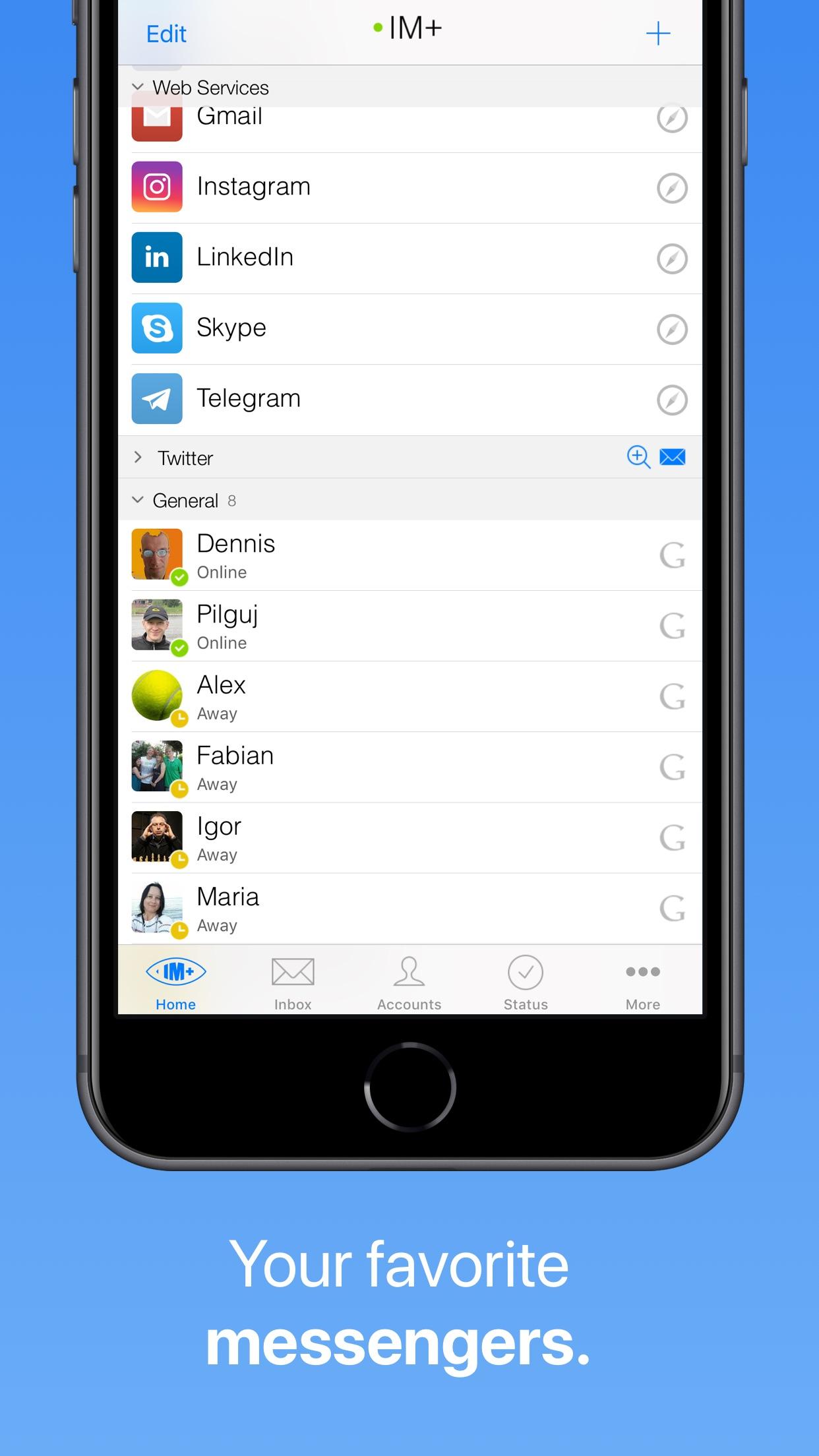 IM+ Pro Social Aggregator Screenshot