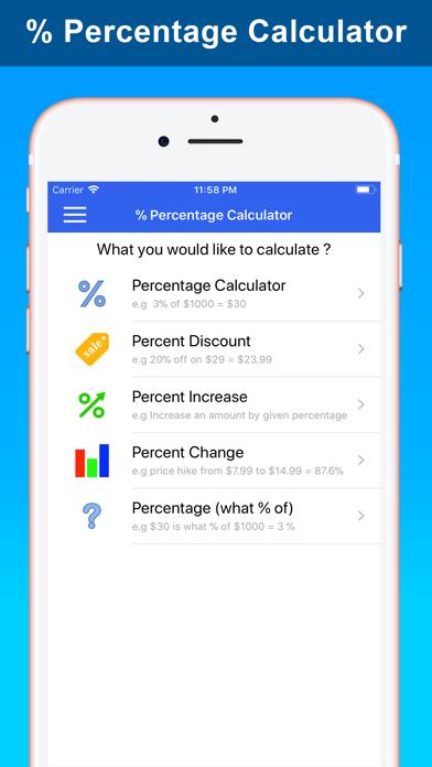 % Percentage Calculator