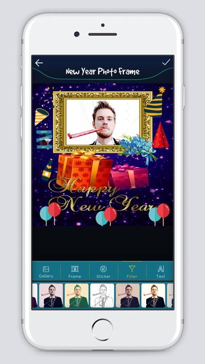 New Year photo Frame 2k18 screenshot-4