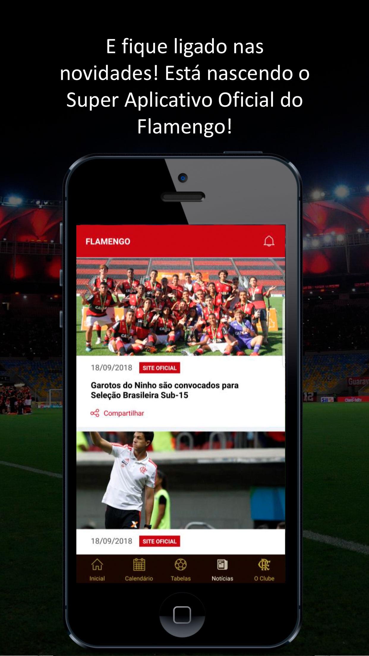 Screenshot do app Flamengo