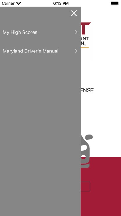 MD Practice Driving Test iPhone