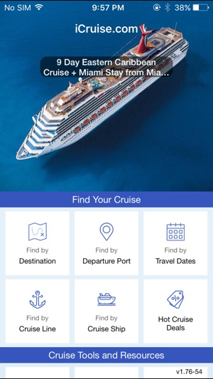 Cruise Finder By ICruisecom On The App Store - Cruise ship finder app