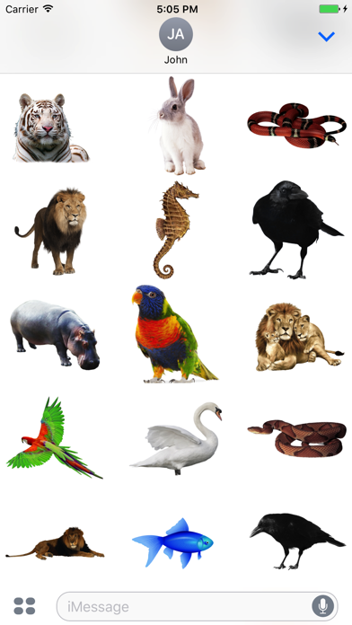 Fun Animals Stickers! screenshot two