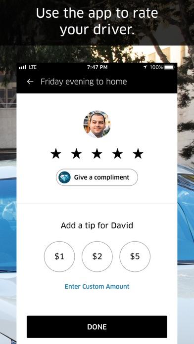 Uber app image