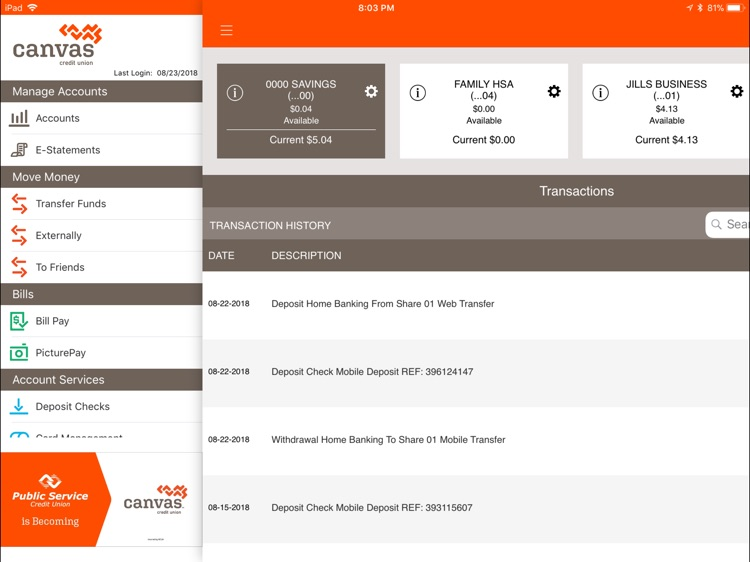 Canvas Credit Union for iPad screenshot-3