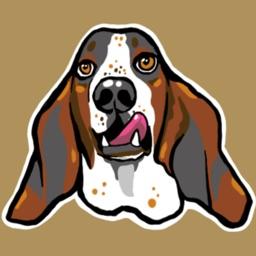 Basset Hound Dogs By MariNaomi