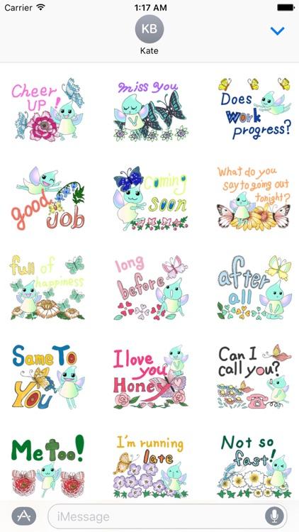 Lovely Butterfly Fairy Sticker