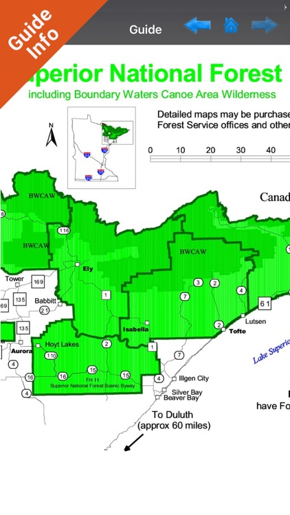 Superior National Forest gps and outdoor map screenshot-2