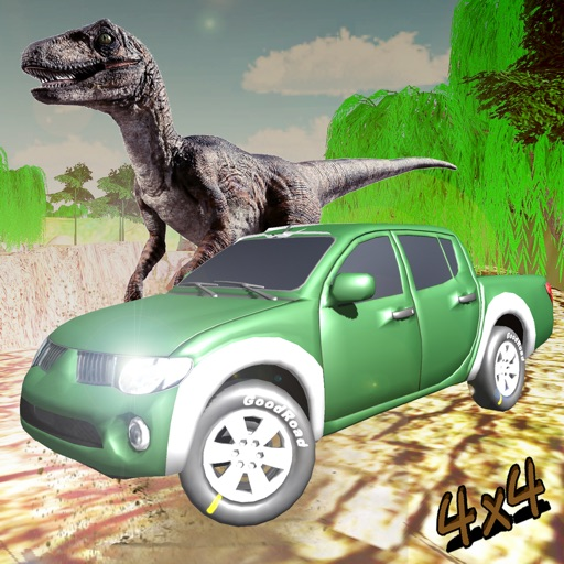 Offroad Jeep drive dino park