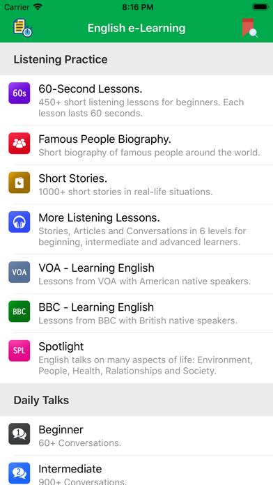 English Listening And Speaking screenshot one