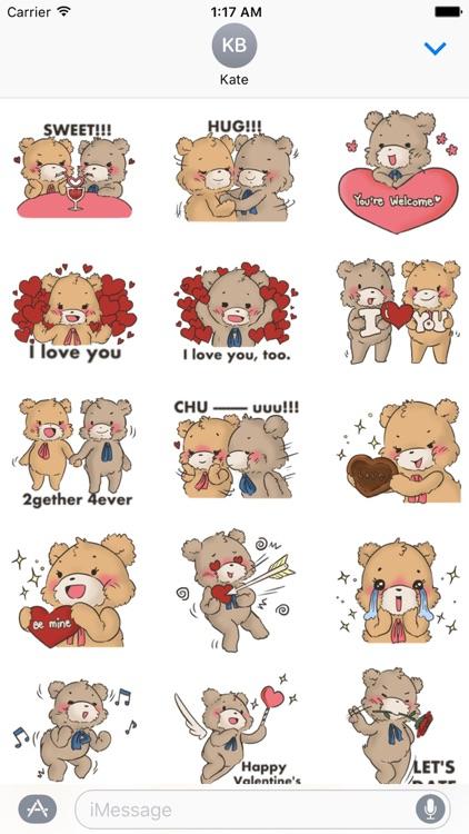 Cute Bears For Valentine Emoji