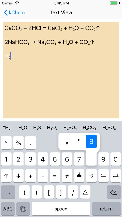 kChem - Chemistry Keyboard screenshot-1