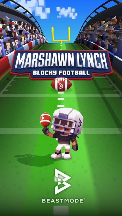 Marshawn Lynch Blocky Football screenshot-0