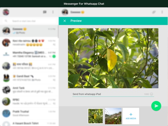 Messenger for WhatsApp WebApp Screenshots