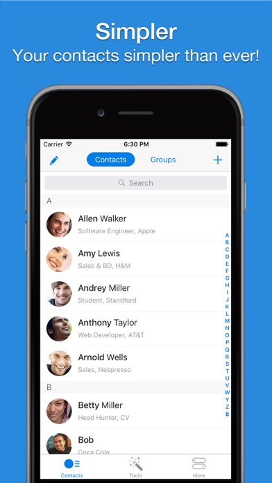 Simpler - Contacts Manager app image