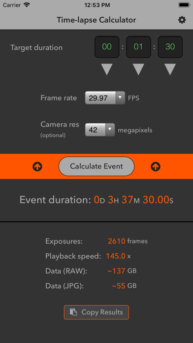 Time Lapse Calculator review screenshots