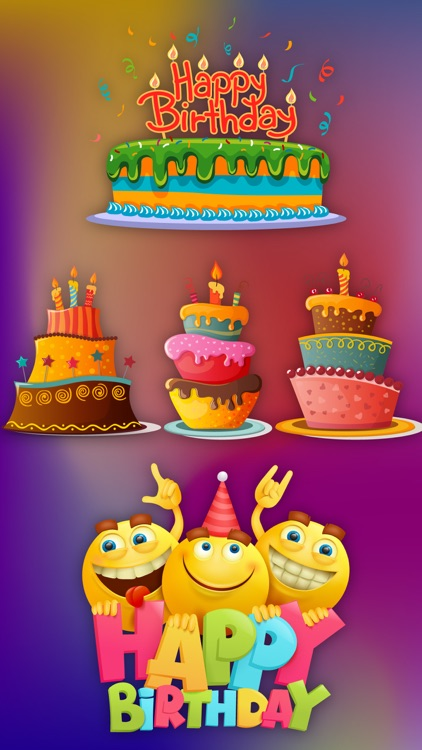 Birthday Party Stickers Wishes screenshot-3