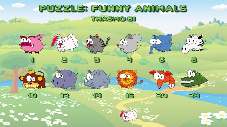 Funny animal puzzle for toddlers