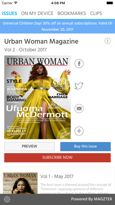 Urban Woman Magazine screenshot 1
