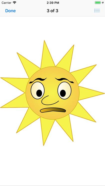 Sunny Sun Stickers screenshot-3