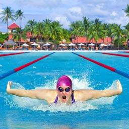 Beach Swimming Race