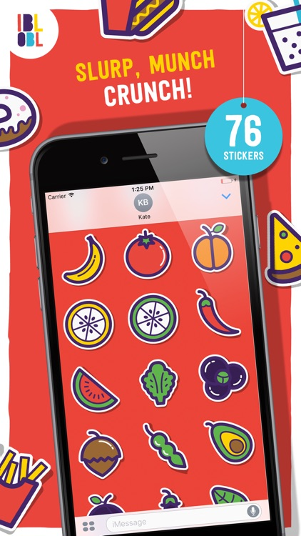 Ibbleobble Food Stickers for iMessage
