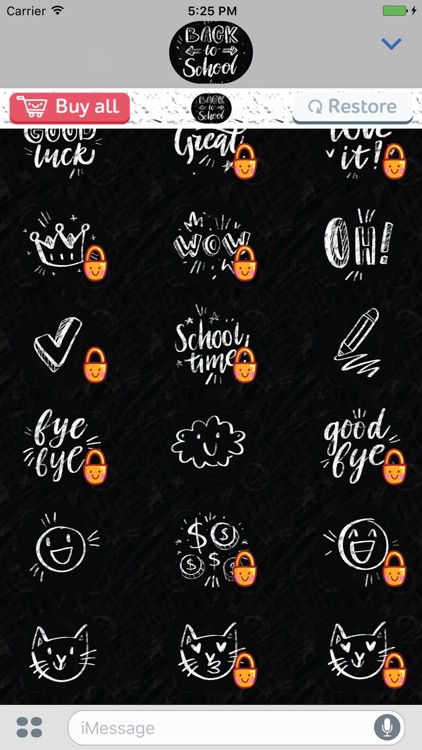 Back To School! Stickers for iMessage screenshot-3