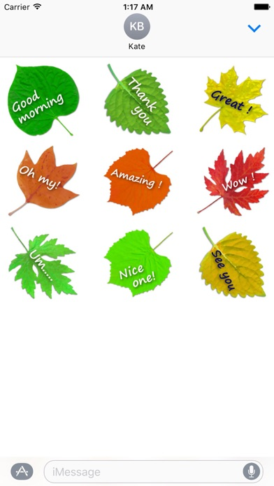 Messages On The Leaves Sticker screenshot 2
