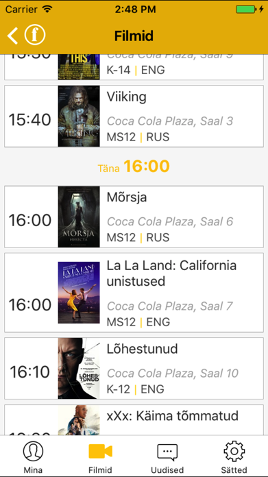 Forum Cinemas Estonia Screenshot