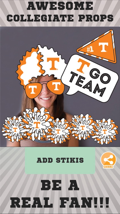 Tennessee Volunteers Selfie Stickers screenshot-1