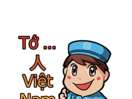 The Hello VietNam Sticker pack to help you make your chats in messengers even funnier