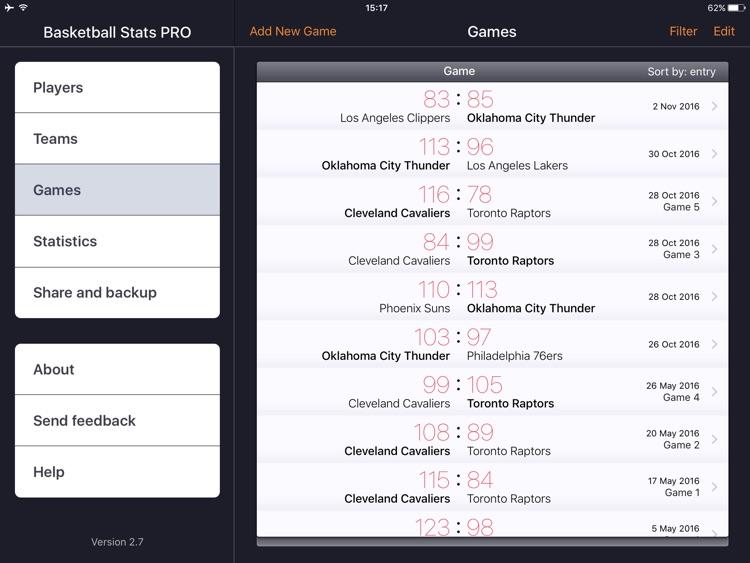 Basketball Stats PRO screenshot-3