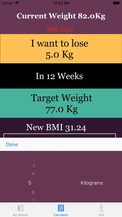 Weight Loss Calorie Calculator screenshot-3