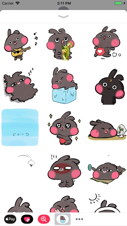 Summer Bunny Animated Stickers screenshot-0