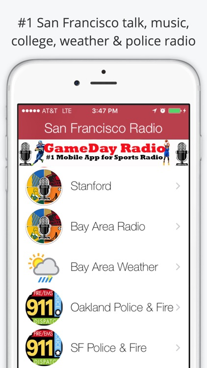 San Francisco GameDay Radio for 49ers Giants
