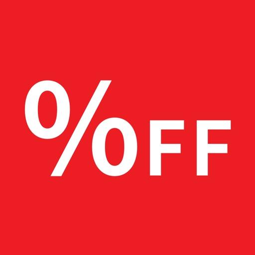 %OFF 買い物中に最適な割引計算機