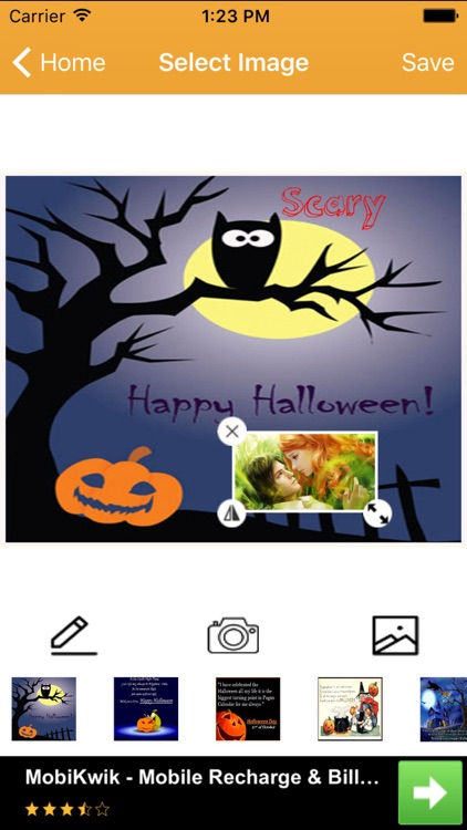 Halloween Greeting Card Wishes